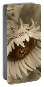 Old Fashioned Sunflower Portable Battery Charger