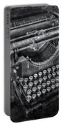 Old Fashioned Underwood Typewriter Bw Portable Battery Charger