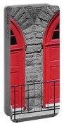 Old Fire Hall Doors Portable Battery Charger