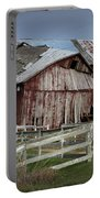 Old Forlorn Decrepid Wooden Barn Portable Battery Charger