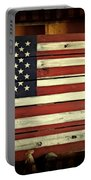 Old Glory In Wood Portable Battery Charger