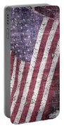 Old Glory   Peeling Paint Portable Battery Charger