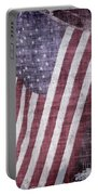 Old Glory Rustic Portable Battery Charger