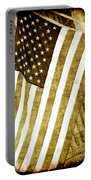 Old Glory Sepia Rustic Portable Battery Charger