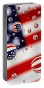 Old Glory Water Drops Portable Battery Charger