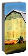 Old Green Barn South Of Rosman Portable Battery Charger