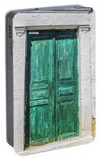 Old Green Door Portable Battery Charger