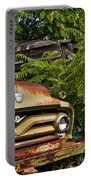 Old Green Truck Portable Battery Charger