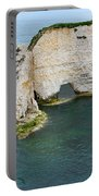 Old Harry Rocks On The Jurassic Coast In Dorset Portable Battery Charger