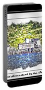 Old Homestead By The Sea Portable Battery Charger by Barbara Griffin