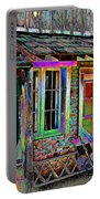 Old House Pop Art Portable Battery Charger