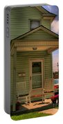 Old Houses - New Jersey - In The Oranges - Green House With Flower Pots And Rocking Chairs - Color Portable Battery Charger