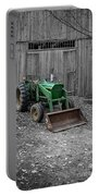 Old John Deere Tractor Portable Battery Charger by Edward Fielding