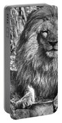 Old King In Black And White Portable Battery Charger