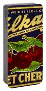 Cherries Antique Food Package Label Portable Battery Charger