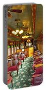 Old Lounge Car From Early Railroading Days Portable Battery Charger