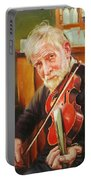 Old Man And Fiddle Portable Battery Charger