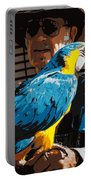 Old Man And His Bird Portable Battery Charger