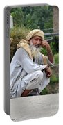 Old Man Carrying Fodder Swat Valley Kpk Pakistan Portable Battery Charger