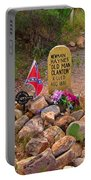 Old Man Clanton At Boot Hill Portable Battery Charger