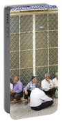 Old Men Socializing In Yazd Iran Portable Battery Charger