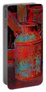 Old Milk Pail Pop Art Portable Battery Charger