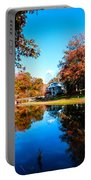 Old Mill House Pond In Autumn Fine Art Photograph Print With Vibrant Fall Colors Portable Battery Charger