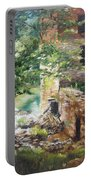 Old Mill Stream I Portable Battery Charger