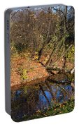 Old Park Canal In Autumn Portable Battery Charger