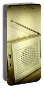 Old Radio Portable Battery Charger by Les Cunliffe