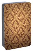 Old Retro Wallpaper In Sepia Portable Battery Charger