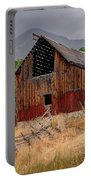 Old Rural Barn In Thunderstorm - Utah Portable Battery Charger
