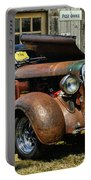 Old Rusty Car At The Old Shop  Ca5083a-14 Portable Battery Charger