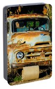 Old Rusty International Flatbed Truck Portable Battery Charger