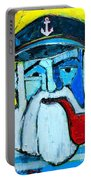 Old Sailor With Pipe Expressionist Portrait Portable Battery Charger
