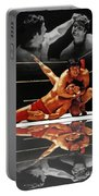 Old School Wrestling Headlock By Dean Ho On Don Muraco With Reflection Portable Battery Charger