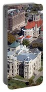 Old Sedgwick County Courthouse In Wichita Portable Battery Charger