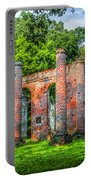 Old Sheldon Church Ruins Portable Battery Charger