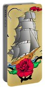 Old Ship Tattoo  Portable Battery Charger