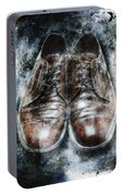 Old Shoes Frozen In Ice Portable Battery Charger