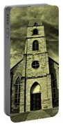 Old St. Mary's Church In Fredericksburg Texas In Sepia Portable Battery Charger