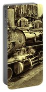 Old Steam Train Portable Battery Charger