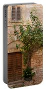 Old Stone House With Plants  Portable Battery Charger