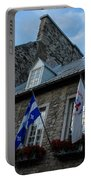 Old Stone Houses In Quebec City Canada  Portable Battery Charger