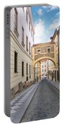 Old Street In Prague Portable Battery Charger