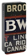 Old Subway Signs Portable Battery Charger