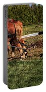 Old Time Horse Plowing Portable Battery Charger
