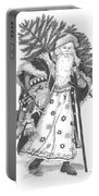 Old Time Santa With Violin Portable Battery Charger