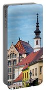 Old Town Buildings In Budapest Portable Battery Charger