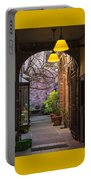 Old Town Courtyard In Victoria British Columbia Portable Battery Charger